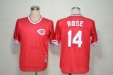 Mitchell And Ness Cincinnati Reds #14 Pete Rose Red Throwback Stitched MLB Jersey
