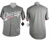 Chicago White Sox Blank New Grey Cool Base Stitched MLB Jersey