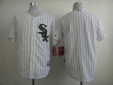 Chicago White Sox Blank White Black Strip Stitched MLB Jersey