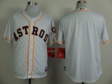 Houston Astros Blank White Cool Base Stitched MLB Jersey