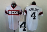 Mitchell And Ness 1983 Autographed MLB Chicago White Sox #4 Luke Appling White Throwback Stitched Jersey