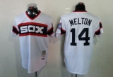 Mitchell And Ness 1983 Chicago White Sox #14 Bill Melton White Throwback Stitched MLB Jersey