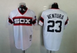 Mitchell And Ness 1983 Chicago White Sox #23 Robin Ventura White Throwback Stitched MLB Jersey