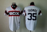 Mitchell And Ness 1983 Chicago White Sox #35 Frank Thomas White Throwback Stitched MLB Jersey