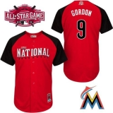 Miami Marlins #9 Dee Gordon Red 2015 All-Star National League Stitched MLB Jersey