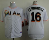 Miami Marlins #16 Jose Fernandez White Cool Base Stitched MLB Jersey