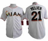 Miami Marlins #21 Christian Yelich White Cool Base Stitched MLB Jersey