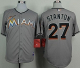 Miami Marlins #27 Giancarlo Stanton Grey 2012 Road Stitched MLB Jersey