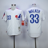 Expos #33 Larry Walker White Stitched MLB Jersey