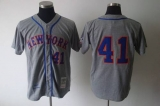 Mitchell and Ness 1969 New York Mets #41 Tom Seaver Grey Stitched MLB Jersey