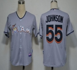 Miami Marlins #55 Josh Johnson Grey 2012 Road Stitched MLB Jersey