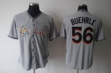 Miami Marlins #56 Mark Buehrle Grey 2012 Road Stitched MLB Jersey