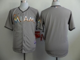 Miami Marlins Blank Grey Cool Base Stitched MLB Jersey
