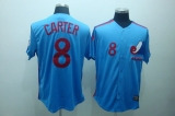 Mitchell and Ness Expos #8 Gary Carter Blue Stitched Throwback MLB Jersey