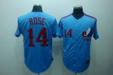 Mitchell and Ness Expos #14 Pete Rose Blue Stitched Throwback MLB Jersey