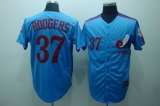 Mitchell and Ness Expos #37 Steve Rogers Blue Stitched Throwback MLB Jersey