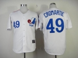 Mitchell And Ness Expos #49 Warren Cromartie White Throwback Stitched MLB Jersey