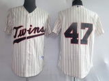 Minnesota Twins #47 Francisco Liriano Stitched Cream MLB Jersey
