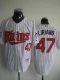 Minnesota Twins #47 Francisco Liriano Stitched White MLB Jersey