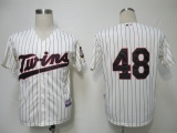 Minnesota Twins #48 Carl Pavano Cream Cool Base Stitched MLB Jersey