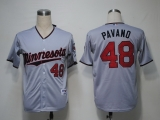 Minnesota Twins #48 Carl Pavano Grey Cool Base Stitched MLB Jersey