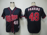 Minnesota Twins #48 Carl Pavano Navy Blue Cool Base Stitched MLB Jersey