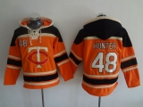 Minnesota Twins #48 Torii Hunter Orange Sawyer Hooded Sweatshirt MLB Hoodie