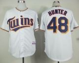 Minnesota Twins #48 Torii Hunter White Home Cool Base Stitched MLB Jersey