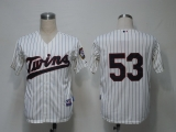 Minnesota Twins #53 Nick Blackburn Cream Cool Base Stitched MLB Jersey