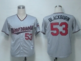 Minnesota Twins #53 Nick Blackburn Grey Cool Base Stitched MLB Jersey