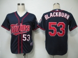 Minnesota Twins #53 Nick Blackburn Navy Blue Cool Base Stitched MLB Jersey