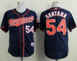 Minnesota Twins #54 Ervin Santana Navy Blue Alternate Road Cool Base Stitched MLB Jersey