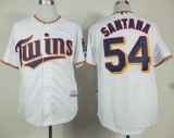 Minnesota Twins #54 Ervin Santana White Home Cool Base Stitched MLB Jersey