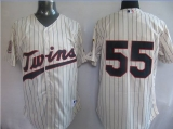 Minnesota Twins #55 Matt Capps Cream Home 50TH Season Patch Stitched MLB Jersey
