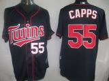 Minnesota Twins #55 Matt Capps Navy Blue Cool Base Stitched MLB Jersey