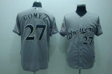 Milwaukee Brewers #27 carlos Gomez Stitched Grey Cool Base MLB Jersey