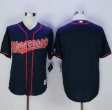 Minnesota Twins Blank Navy Blue New Cool Base Alternate Road Stitched MLB Jersey