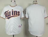 Minnesota Twins Blank White Home Cool Base Stitched MLB Jersey