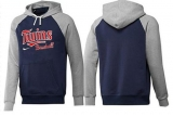 Minnesota Twins Pullover Hoodie Dark Blue & Grey