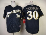 Milwaukee Brewers #30 Tyler Thornburg Blue Cool Base Stitched MLB Jersey