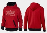 Minnesota Twins Pullover Hoodie Red & Black
