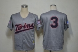 Mitchell And Ness 1969 Minnesota Twins #3 Harmon Killebrew Grey Throwback Stitched MLB Jersey