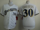 Milwaukee Brewers #30 Tyler Thornburg White Cool Base Stitche MLB Jersey