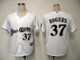 Milwaukee Brewers #37 Mark Rogers White Cool Base Stitched MLB Jersey