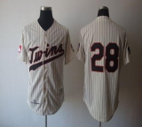 Mitchell And Ness 1970 Minnesota Twins #28 Bert Blyleven Cream Stitched Throwback MLB Jersey