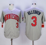 Mitchell And Ness 1987 Minnesota Twins #3 Harmon Killebrew Grey Throwback Stitched MLB Jersey