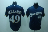 Milwaukee Brewers #49 Yovani Gallardo Stitched Blue MLB Jersey