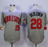 Mitchell And Ness 1987 Minnesota Twins #28 Bert Blyleven Grey Throwback Stitched MLB Jersey
