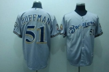 Milwaukee Brewers #51 Trevor Hoffman Stitched Grey MLB Jersey