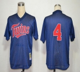 Mitchell And Ness 1996 Minnesota Twins #4 Paul Molitor Navy Blue Stitched MLB Jersey